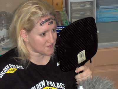 """For $10000, Kari Smith has gone ahead and had her forehead tattooed with"